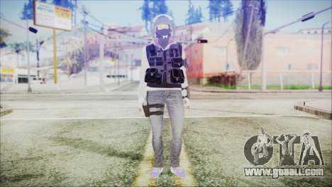 Rainbow Six Siege GSG9 IQ for GTA San Andreas second screenshot