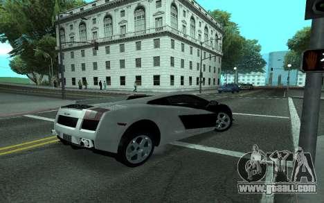 Lamborghini Gallardo Tunable for GTA San Andreas upper view