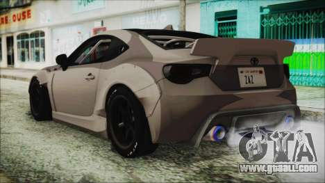 Toyota GT86 Rocket Bunny Tunable IVF for GTA San Andreas left view