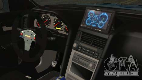 Nissan Skyline R34 Itasha for GTA San Andreas right view