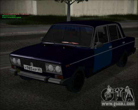 VAZ 2106 GVR for GTA San Andreas left view