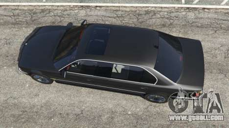 GTA 5 BMW L7 750iL (E38) back view