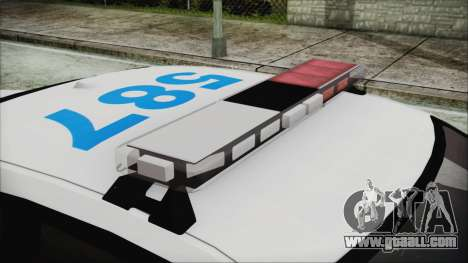 Dodge Charger SRT8 2012 Iraqi Police for GTA San Andreas back view