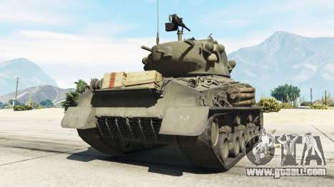 GTA 5 M4A3E8 Sherman Fury rear left side view