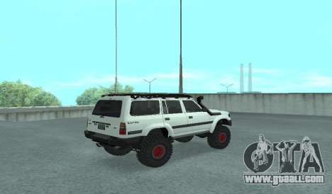 Toyota Autana 4500 off-road LED for GTA San Andreas back left view