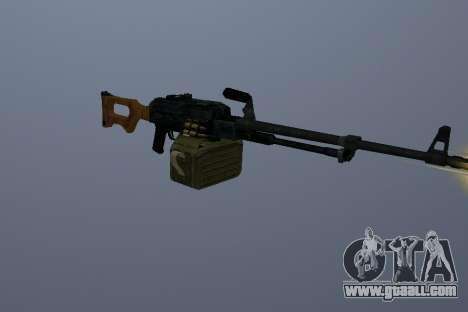 The Kalashnikov Machine Gun for GTA San Andreas third screenshot