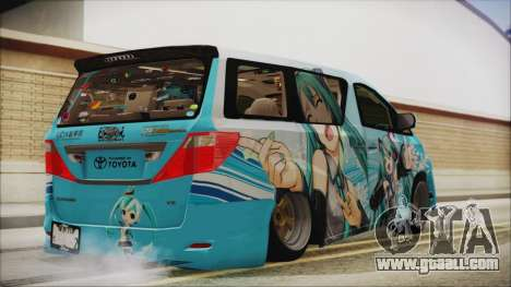 Toyota Alphard Hatsune Miku for GTA San Andreas left view