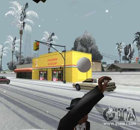 Throwing snow for GTA San Andreas third screenshot