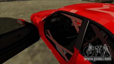Nissan Skyline R33 Drift Red Star for GTA San Andreas interior
