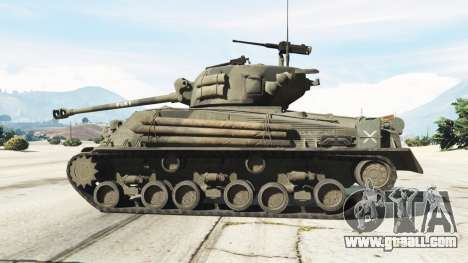 GTA 5 M4A3E8 Sherman Fury left side view
