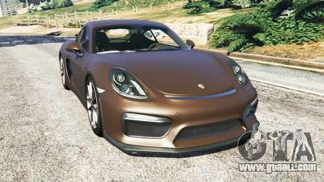 Porsche Cayman GT4 2016 v1.1 for GTA 5
