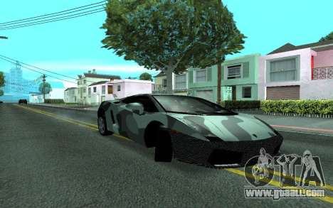 Lamborghini Gallardo Tunable for GTA San Andreas back view