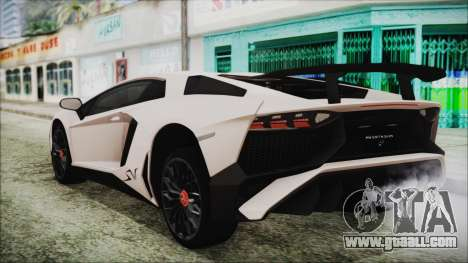 Lamborghini Aventador SV 2015 for GTA San Andreas left view