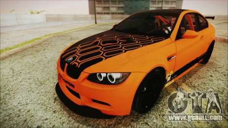 BMW M3 GTS 2011 IVF for GTA San Andreas interior