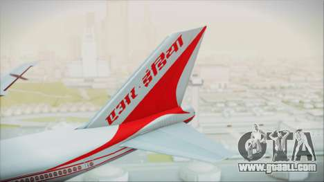 Boeing 747-237Bs Air India Krishna Deva Raya for GTA San Andreas back left view