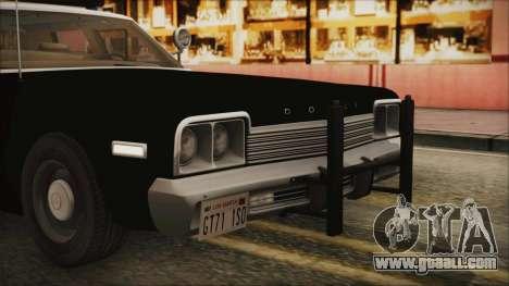 Dodge Monaco 1974 LSPD IVF for GTA San Andreas upper view