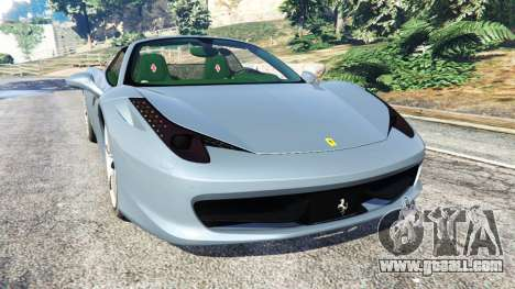 Ferrari 458 Spider 2012 for GTA 5