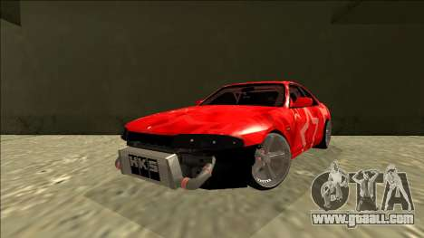 Nissan Skyline R33 Drift Red Star for GTA San Andreas back left view