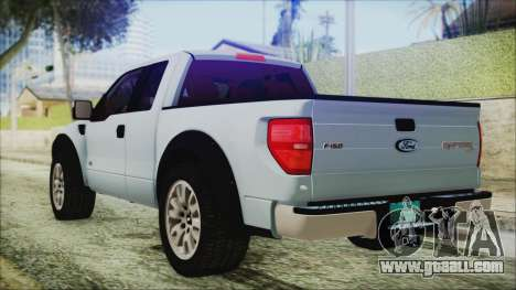 Ford F-150 SVT Raptor 2012 Stock Version for GTA San Andreas left view