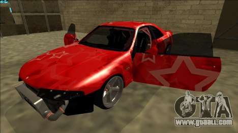 Nissan Skyline R33 Drift Red Star for GTA San Andreas engine