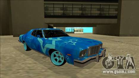 Ford Gran Torino Drift Blue Star for GTA San Andreas right view