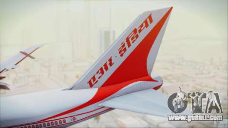 Boeing 747-237Bs Air India Akbar for GTA San Andreas back left view