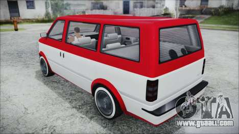 GTA 5 Declasse Moonbeam Bobble Version IVF for GTA San Andreas left view
