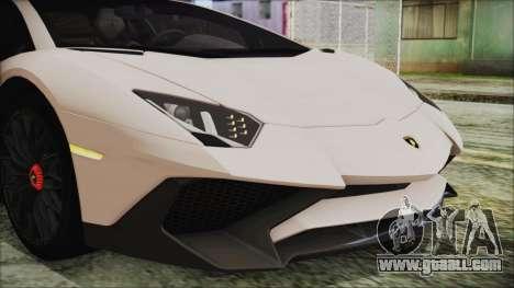 Lamborghini Aventador SV 2015 for GTA San Andreas inner view