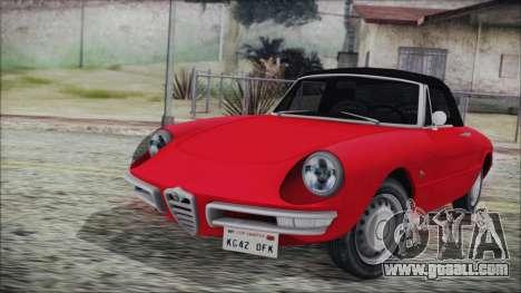 Alfa Romeo Spider Duetto 1966 for GTA San Andreas