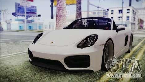 Porsche Boxster GTS 2016 for GTA San Andreas