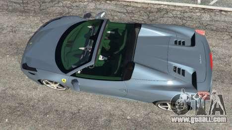 GTA 5 Ferrari 458 Spider 2012 back view