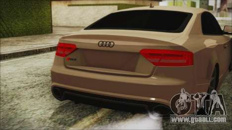 Audi RS5 for GTA San Andreas back view