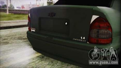 Chevrolet Corsa for GTA San Andreas back view