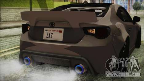 Toyota GT86 Rocket Bunny Tunable IVF for GTA San Andreas upper view