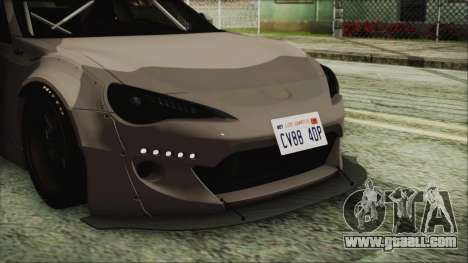 Toyota GT86 Rocket Bunny Tunable IVF for GTA San Andreas back view
