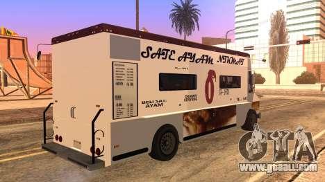 Sate Ayam (Chicken Satay) Van for GTA San Andreas left view