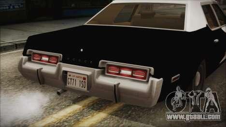 Dodge Monaco 1974 LSPD IVF for GTA San Andreas inner view
