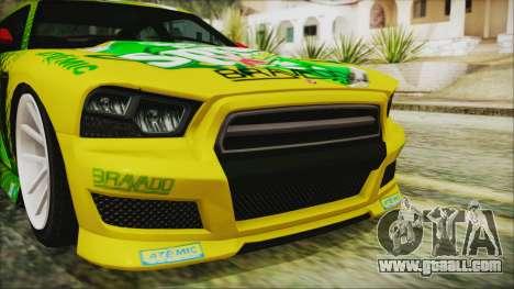 GTA 5 Bravado Buffalo Sprunk for GTA San Andreas back view