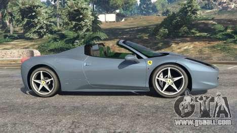 GTA 5 Ferrari 458 Spider 2012 left side view