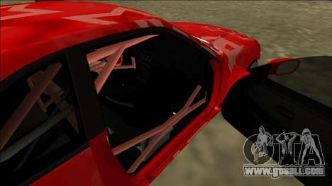 Nissan Skyline R33 Drift Red Star for GTA San Andreas bottom view