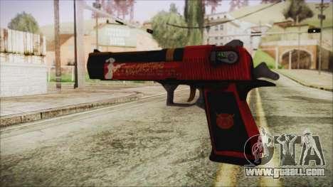 Xmas Desert Eagle for GTA San Andreas second screenshot