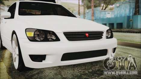 Toyota Altezza 2004 Full Tunable HQ for GTA San Andreas upper view