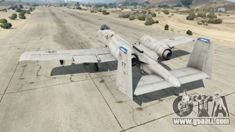 GTA 5 Fairchild Republic A-10A Thunderbolt II v1.2 third screenshot