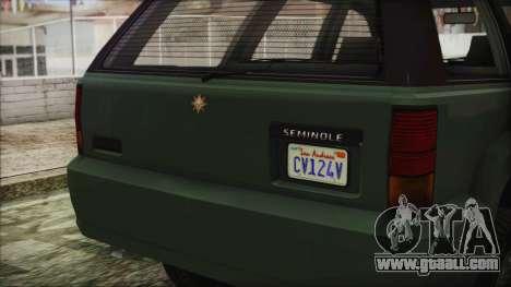 GTA 5 Canis Seminole for GTA San Andreas right view