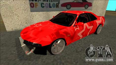 Nissan Skyline R33 Drift Red Star for GTA San Andreas