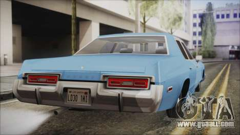 Dodge Monaco 1974 Civilian for GTA San Andreas left view