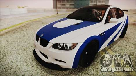 BMW M3 GTS 2011 IVF for GTA San Andreas bottom view