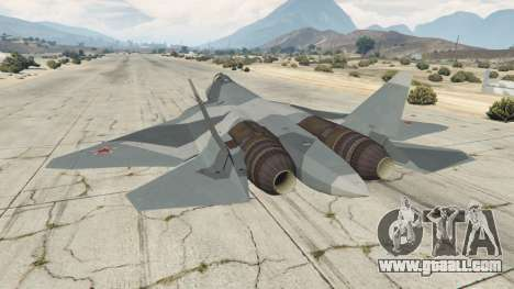 GTA 5 T-50 PAK FA v0.02 third screenshot