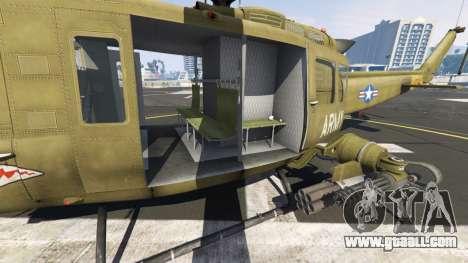 GTA 5 Bell UH-1D Iroquois Huey Gunship sixth screenshot
