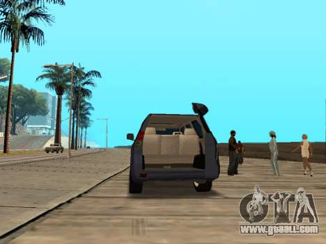 Toyota Land Cruiser Prado for GTA San Andreas back view